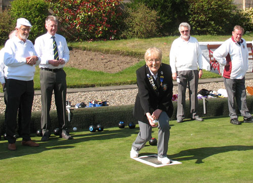Blairgowrie Bowling Club - Opening of the green